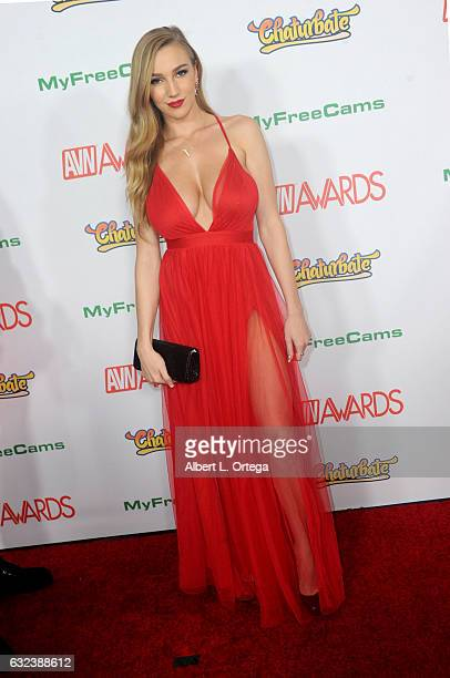 Actress Kendra Sunderland arrives at the 2017 Adult Video News Awards held at the Hard Rock Hotel Casino on January 21 2017 in Las Vegas Nevada