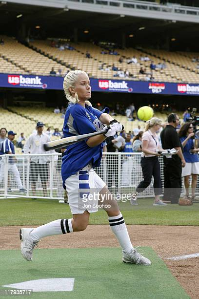 Actress Kendra Wilkinson during Hollywood Stars Night prior to the Los Angeles Dodgers vs the Pittsburgh Pirates game Saturday June 24 2006 at Dodger...
