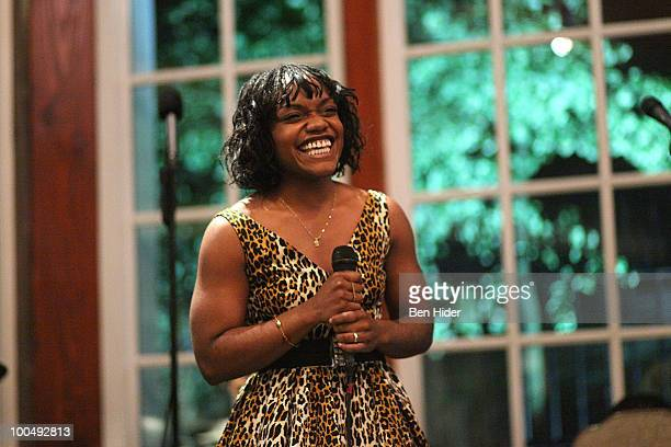 Actress Kenita Miller performs at the Urban Stages' 26th Annual Benefit Celebrating The Harlem Renaissance Then and Now at Loeb Central Park...