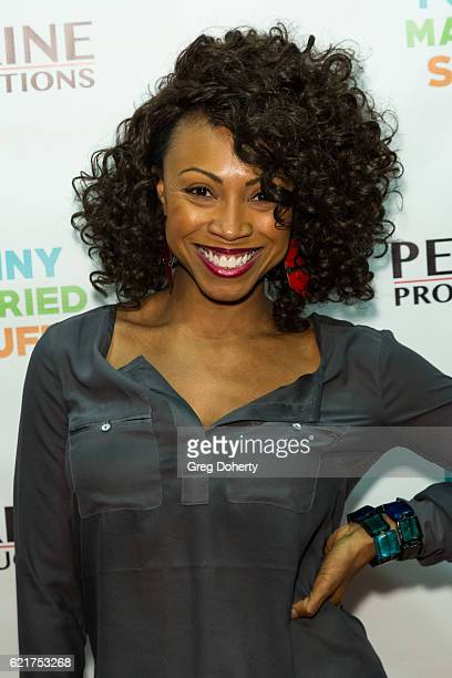 Actress Kenna Ferguson arrives for the Screening Of Perrine Productions' 'Funny Married Stuff' at the ACME Comedy Theatre on November 7 2016 in Los...