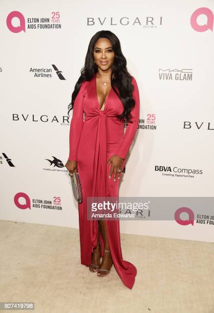 Actress Kenya Moore arrives at the 26th Annual Elton John AIDS Foundation's Academy Awards Viewing Party on March 4 2018 in West Hollywood California