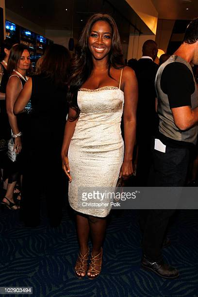 Actress Kenya Moore attends the 2010 ESPY Awards at Nokia Theatre LA Live on July 14 2010 in Los Angeles California