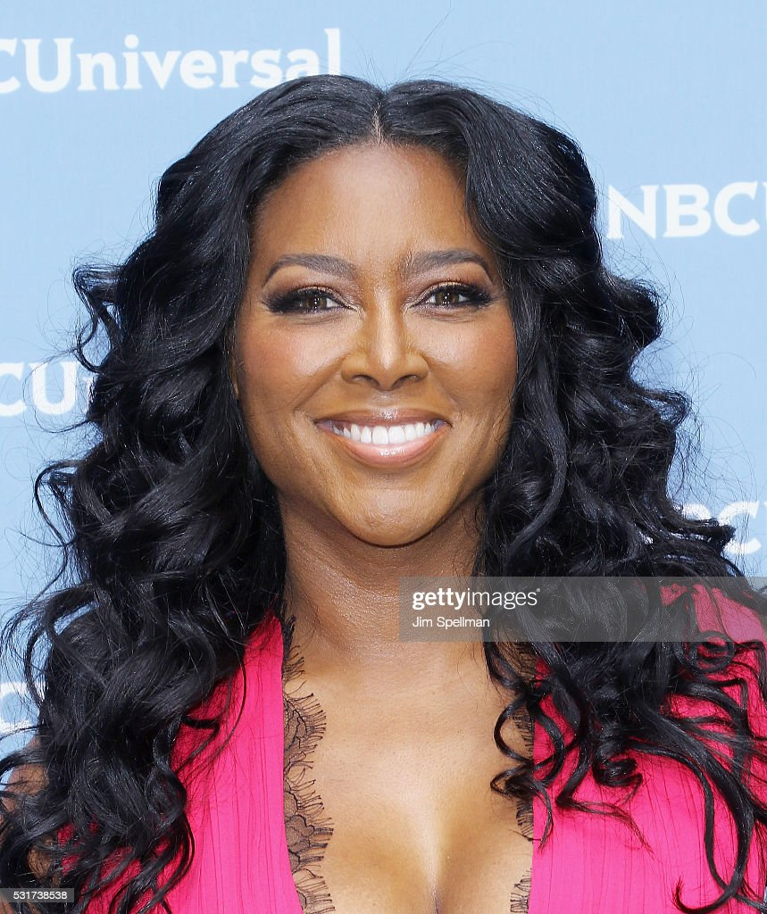 Actress Kenya Moore attends the 2016 NBCUNIVERSAL Upfront at Radio City Music Hall on May 16, 2016 in New York City.