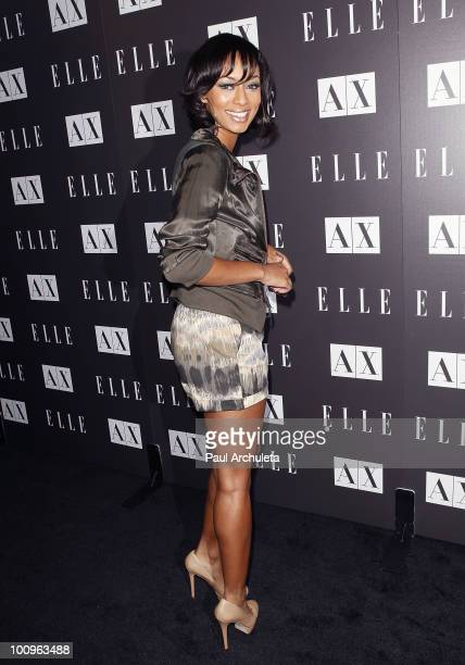 Actress Keri Hilson arrives at the Armani Exchange for Disco Glam presented by A|X and ELLE at A|X Robertson Store on May 25 2010 in Los Angeles...
