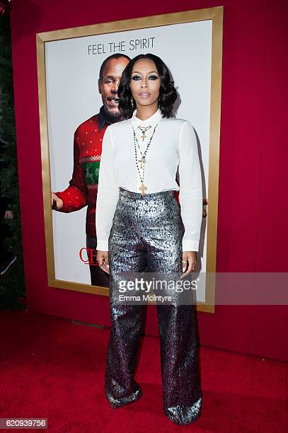 Actress Keri Hilson arrives at the premiere of Universal's 'Almost Christmas' at Regency Village Theatre on November 3 2016 in Westwood California