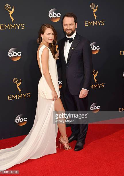 Actress Keri Russell and actor Matthew Rhys arrive at the 68th Annual Primetime Emmy Awards at Microsoft Theater on September 18, 2016 in Los...