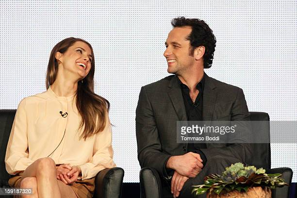 Actress Keri Russell and actor Matthew Rhys attend the TCA 2013 Winter Press Tour FX panels held at The Langham Huntington Hotel and Spa on January 9...