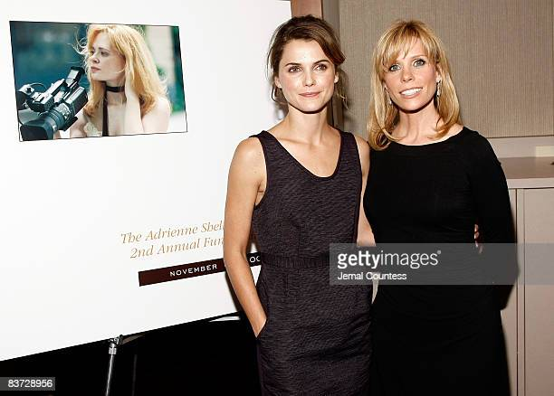 Actress Keri Russell and Actress Cheryl Hines attend the 2nd Annual Adrienne Shelly Foundation Fundraising Gala at the Skirball Center at New York...