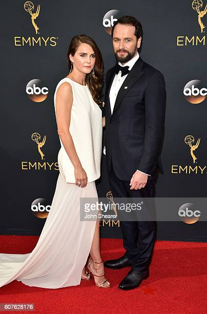 Actress Keri Russell and Matthew Rhys arrive at the 68th Annual Primetime Emmy Awards at Microsoft Theater on September 18 2016 in Los Angeles...