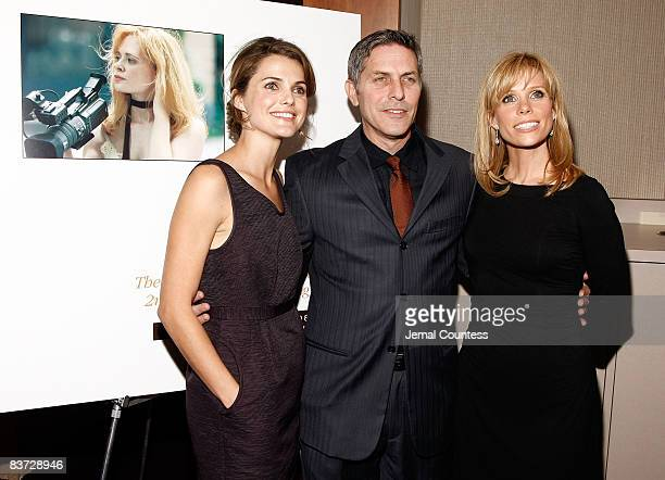 Actress Keri Russell Andy Ostroy and Actress Cheryl Hines attend the 2nd Annual Adrienne Shelly Foundation Fundraising Gala at the Skirball Center at...