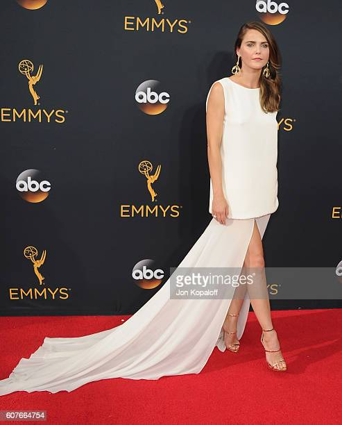 Actress Keri Russell arrives at the 68th Annual Primetime Emmy Awards at Microsoft Theater on September 18 2016 in Los Angeles California