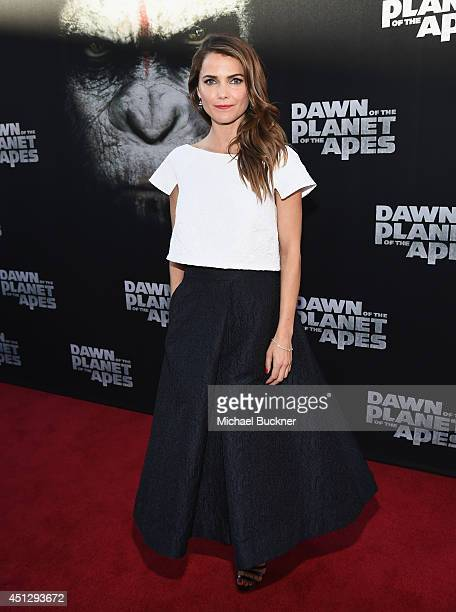 Actress Keri Russell arrives at the premiere of 20th Century Fox's 'Dawn Of The Planet Of The Apes' at Palace Of Fine Arts Theater on June 26 2014 in...