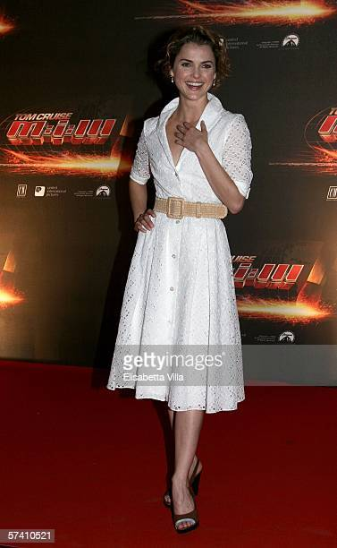 Actress Keri Russell arrives at the World Premiere of 'Mission Impossible III' at Cinema Adriano on April 24 2006 in Rome Italy