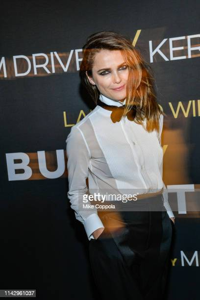 Actress Keri Russell attends Burn This opening night at Hudson Theatre on April 15 2019 in New York City
