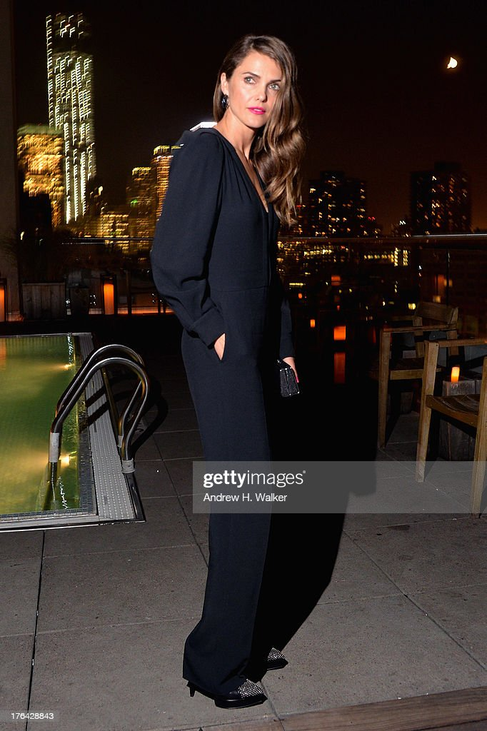 Actress Keri Russell attends the after party for The Cinema Society with Alice and Olivia screening of Sony Pictures Classics' 'Austenland' at Jimmy At The James Hotel on August 12, 2013 in New York City.