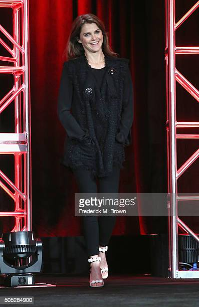 """Actress Keri Russell attends """"The Americans"""" panel discussion at the FX portion of the 2015 Winter TCA Tour at the Langham Huntington Hotel on..."""