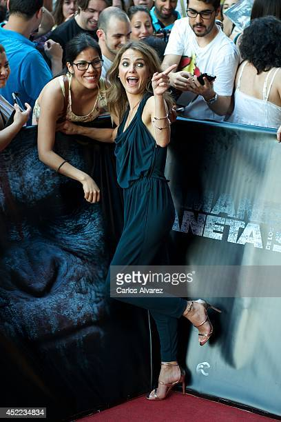 Actress Keri Russell attends the Dawn of the Planet of the Apes premiere at the Capitol cinema on July 16 2014 in Madrid Spain