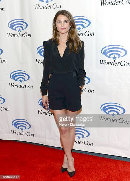 Actress Keri Russell attends the Dawn of the Planet of the Apes press line at WonderCon Anaheim 2014 at the Anaheim Convention Center on April 19...