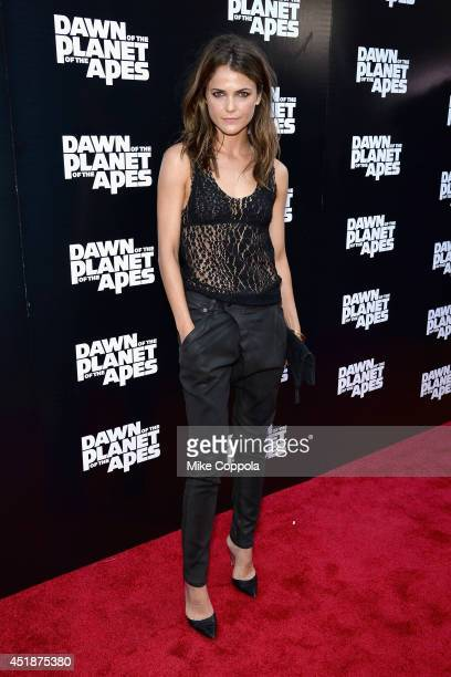 Actress Keri Russell attends the Dawn Of The Planets Of The Apes premiere at Williamsburg Cinemas on July 8 2014 in New York City