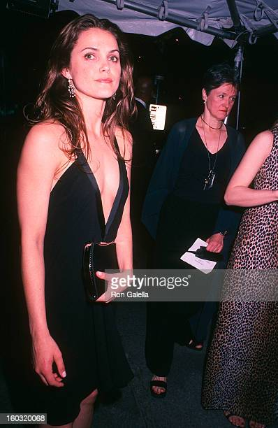 Actress Keri Russell attends the Metropolitan Museum of Art's Costume Institute Gala Exhibition of 'Goddess' on April 28 2003 at the Metropolitan...