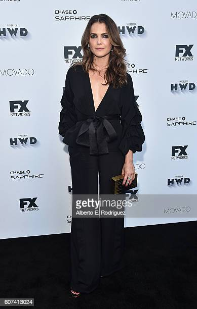 Actress Keri Russell attends the Vanity and FX Annual Primetime Emmy Nominations Party at Craft Restaurant on September 17 2016 in Beverly Hills...