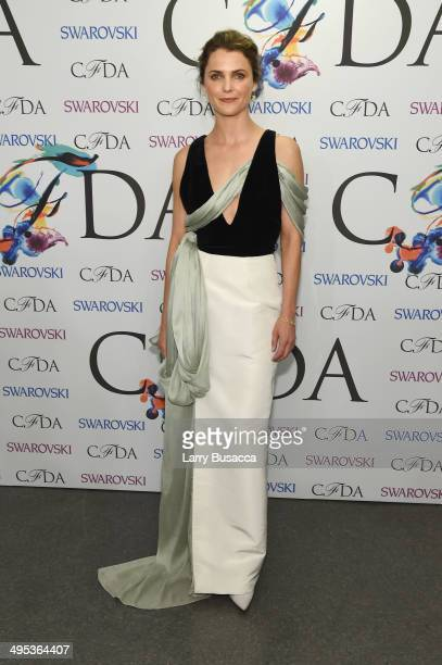 Actress Keri Russell attends the winners walk during the 2014 CFDA fashion awards at Alice Tully Hall Lincoln Center on June 2 2014 in New York City