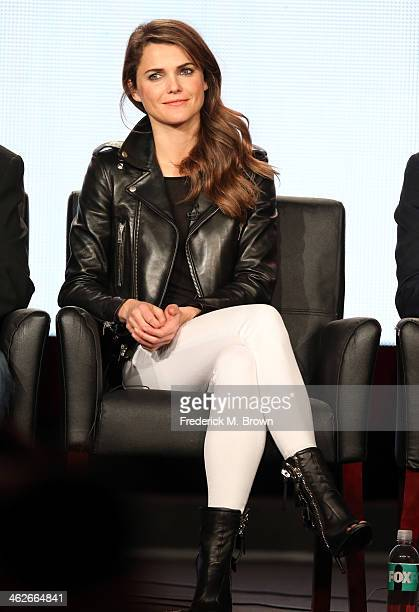 Actress Keri Russell of the television show 'The Americans' speaks onstage during the FX portion of the 2014 Television Critics Association Press...