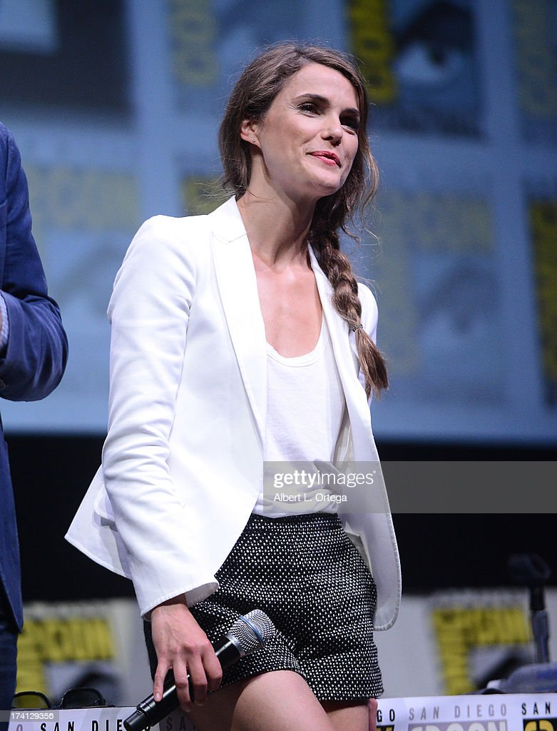Actress Keri Russell speaks onstage at the Lionsgate preview featuring 'I, Frankenstein' and 'The Hunger Games: Catching Fire' during Comic-Con International 2013 at San Diego Convention Center on July 20, 2013 in San Diego, California.