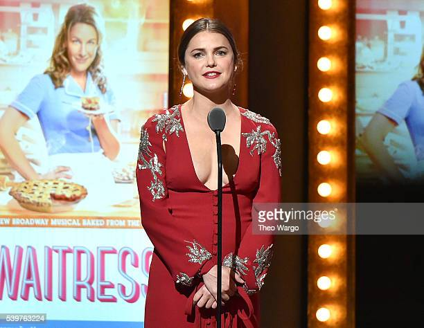 Actress Keri Russell speaks onstage during the 70th Annual Tony Awards at The Beacon Theatre on June 12 2016 in New York City