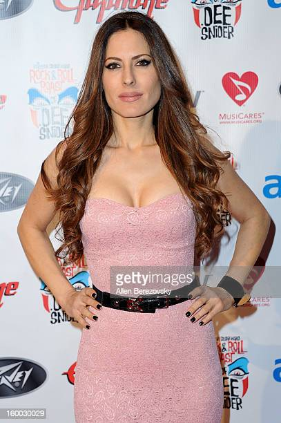 Actress Kerri Kasem arrives at the Revolver/Guitar World Rock Roll roast of Dee Snider at City National Grove of Anaheim on January 24 2013 in...