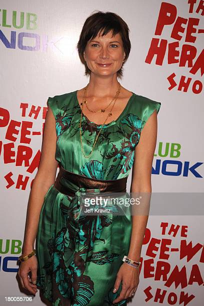 Actress Kerri Kenney arrives at The Peewee Herman Show Los Angeles Opening Night at Club Nokia on January 20 2010 in Los Angeles California