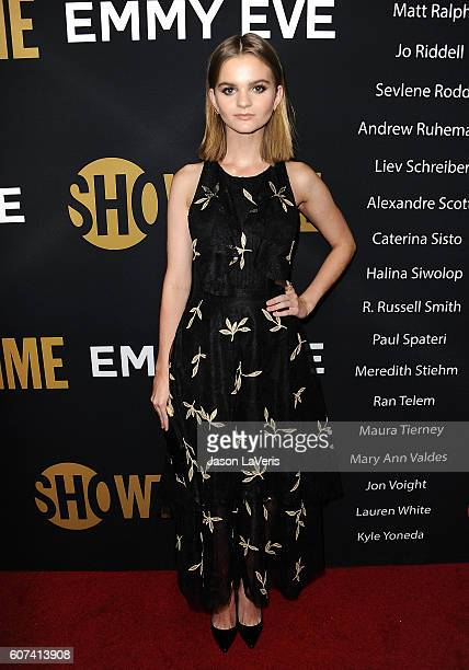 Actress Kerris Dorsey attends the Showtime Emmy eve party at Sunset Tower on September 17 2016 in West Hollywood California