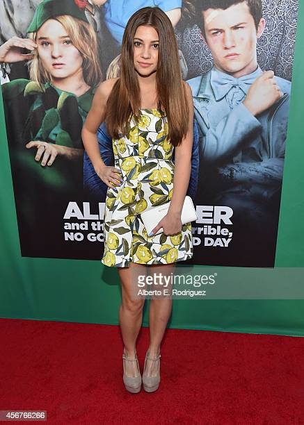 Actress Kerris Dorsey attends The World Premiere of Disney's Alexander and the Terrible Horrible No Good Very Bad Day at the El Capitan Theatre on...