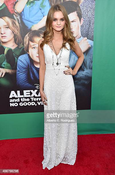Actress Kerris Dorsey attends The World Premiere of Disney's 'Alexander and the Terrible Horrible No Good Very Bad Day' at the El Capitan Theatre on...