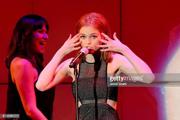 Actress Kerris Dorsey performs onstage during the 24th and final 'A Night at Sardi's' to benefit the Alzheimer's Association at The Beverly Hilton...