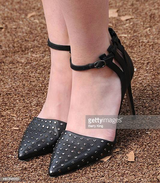 Actress Kerris Dorsey shoe detail attends the Premiere Of Sony Entertainment's 'Goosebumps' at the Regency Village Theater on October 4 2015 in...