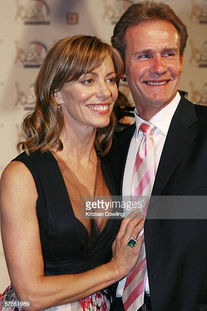 Actress Kerry Armstrong and partner Greg Lucas arrive at the 48th Annual TV Week Logie Awards at the Crown Entertainment Complex May 7 2006 in...