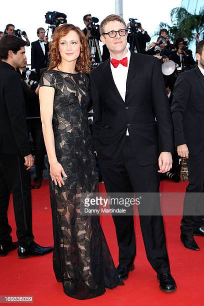 Actress Kerry Bishe and director Daniel Noah attends an hommage to Jerry Lewis and the Premiere of 'Max Rose' at The 66th Annual Cannes Film Festival...
