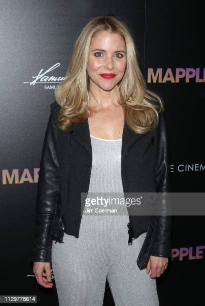 Actress Kerry Butler attends the special screening of Mapplethorpe hosted by Samuel Goldwyn Films with The Cinema Society at Cinepolis Chelsea on...