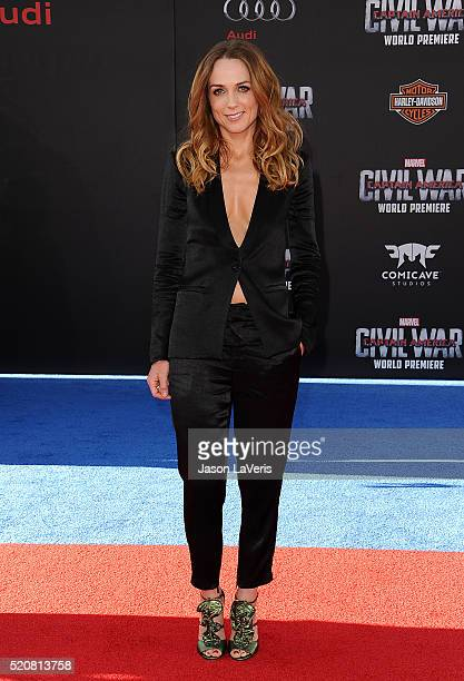 Actress Kerry Condon attends the premiere of Captain America Civil War at Dolby Theatre on April 12 2016 in Hollywood California