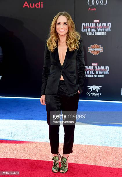 Actress Kerry Condon attends the premiere of Marvel's Captain America Civil War at Dolby Theatre on April 12 2016 in Los Angeles California