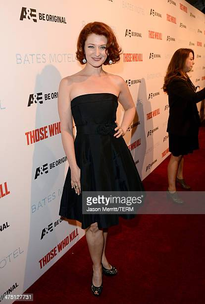 Actress Kerry O'Malley attends AE's 'Bates Motel' and 'Those Who Kill' Premiere Party at Warwick on February 26 2014 in Hollywood California