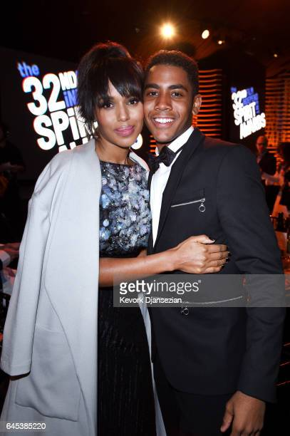 Actress Kerry Washington and actor Jharrel Jerome attend the 2017 Film Independent Spirit Awards at the Santa Monica Pier on February 25 2017 in...
