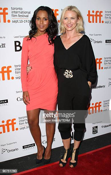 "Actress Kerry Washington and actress Naomi Watts arrive at the ""Mother and Child"" screening during the 2009 Toronto International Film Festival held..."