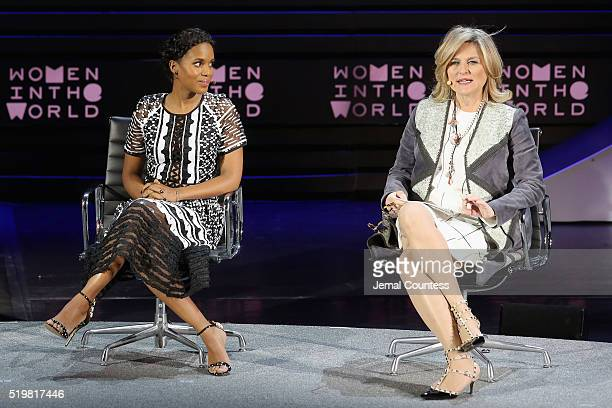 Actress Kerry Washington and journalist Cynthia McFadden speak onstage at The Lasting Impact of Anita Hill during Tina Brown's 7th Annual Women in...