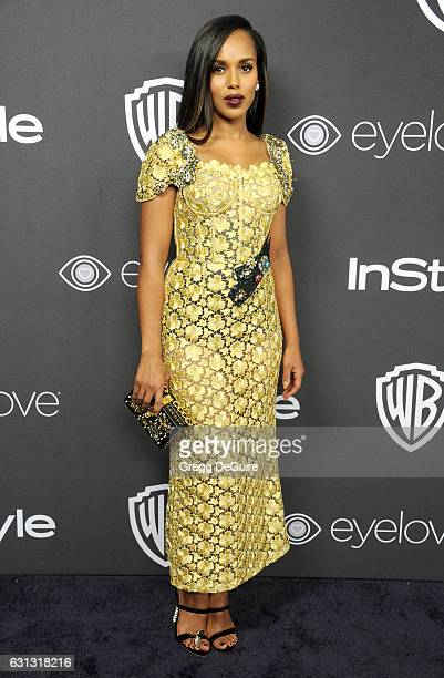 Actress Kerry Washington arrives at the 18th Annual PostGolden Globes Party hosted by Warner Bros Pictures and InStyle at The Beverly Hilton Hotel on...