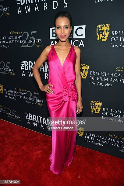 Actress Kerry Washington arrives at the 2012 BAFTA Los Angeles Britannia Awards Presented By BBC AMERICA at The Beverly Hilton Hotel on November 7...