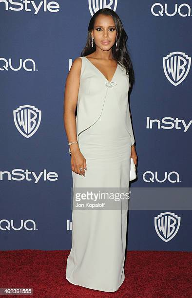 Actress Kerry Washington arrives at the 2014 InStyle And Warner Bros 71st Annual Golden Globe Awards PostParty on January 12 2014 in Beverly Hills...