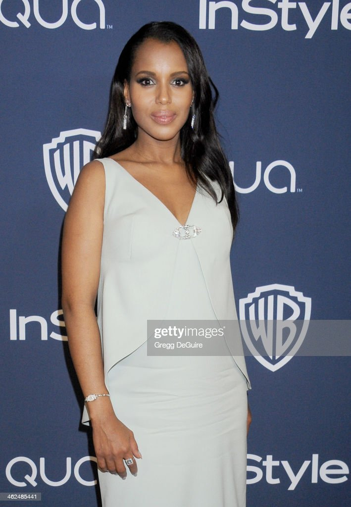 Actress Kerry Washington arrives at the 2014 InStyle And Warner Bros. 71st Annual Golden Globe Awards post-party at The Beverly Hilton Hotel on January 12, 2014 in Beverly Hills, California.