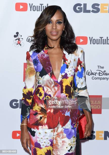 Actress Kerry Washington arrives at the 2017 GLSEN Respect Awards at the Beverly Wilshire Four Seasons Hotel on October 20 2017 in Beverly Hills...